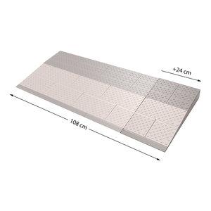 SecuCare Drempelhulp verbredingsset 3, Grijs/Bruin, 450x240 mm